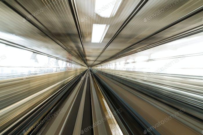 Bewegungsunschärfe der japanischen Eisenbahn