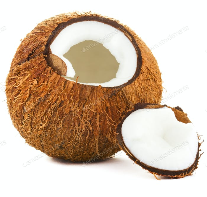 Risse Kokosnuss