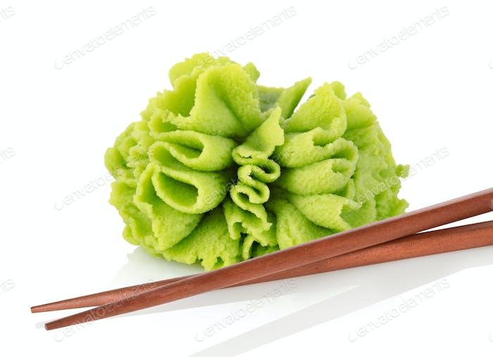 Wasabi with chopsticks
