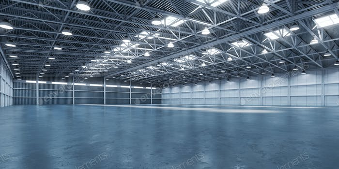 Empty warehouse or storehouse.