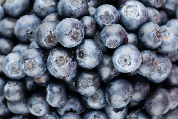 Fresh blueberries background with.