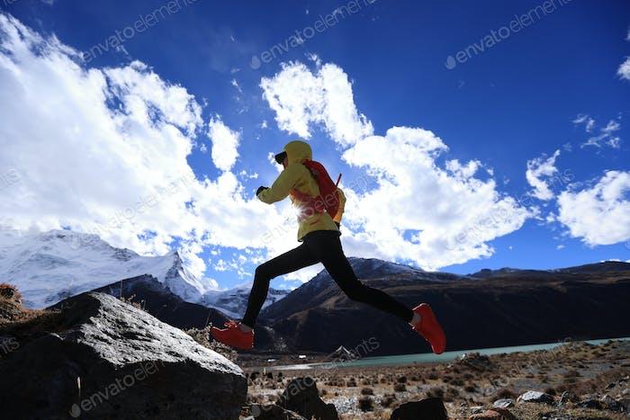 Ultramarathonläufer läuft