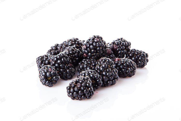 blackberries isolate on white