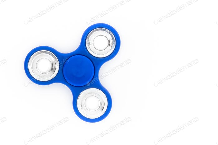 Blue finger spinner