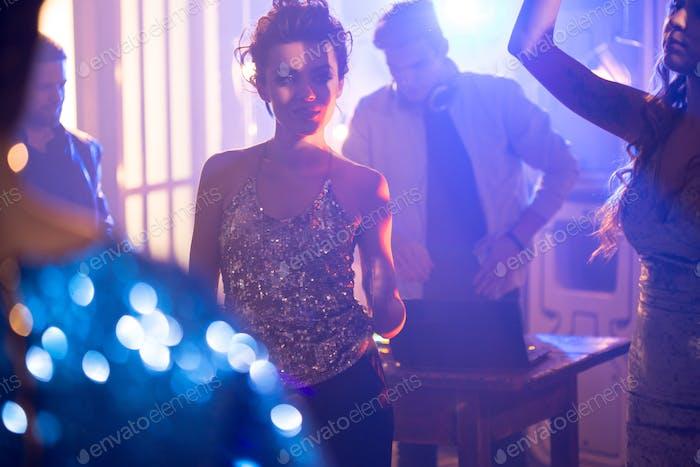 Beautiful Woman in Nightclub