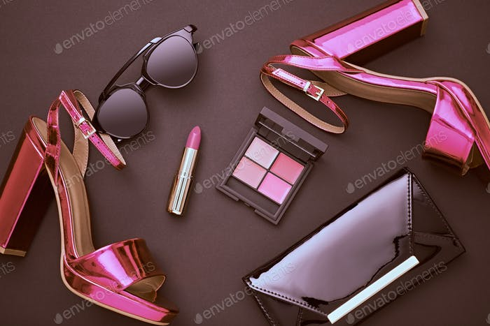 Fashion Cosmetic Makeup. Design Woman Accessories