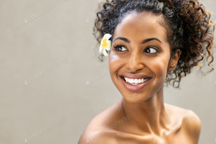 Beauty african woman smiling