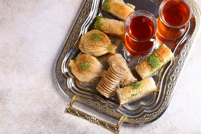 Sweets Baklava with Nuts