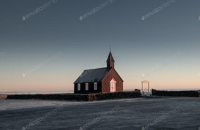 The Black Church of Budir in Iceland