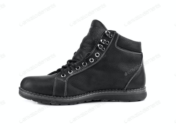 single black boot
