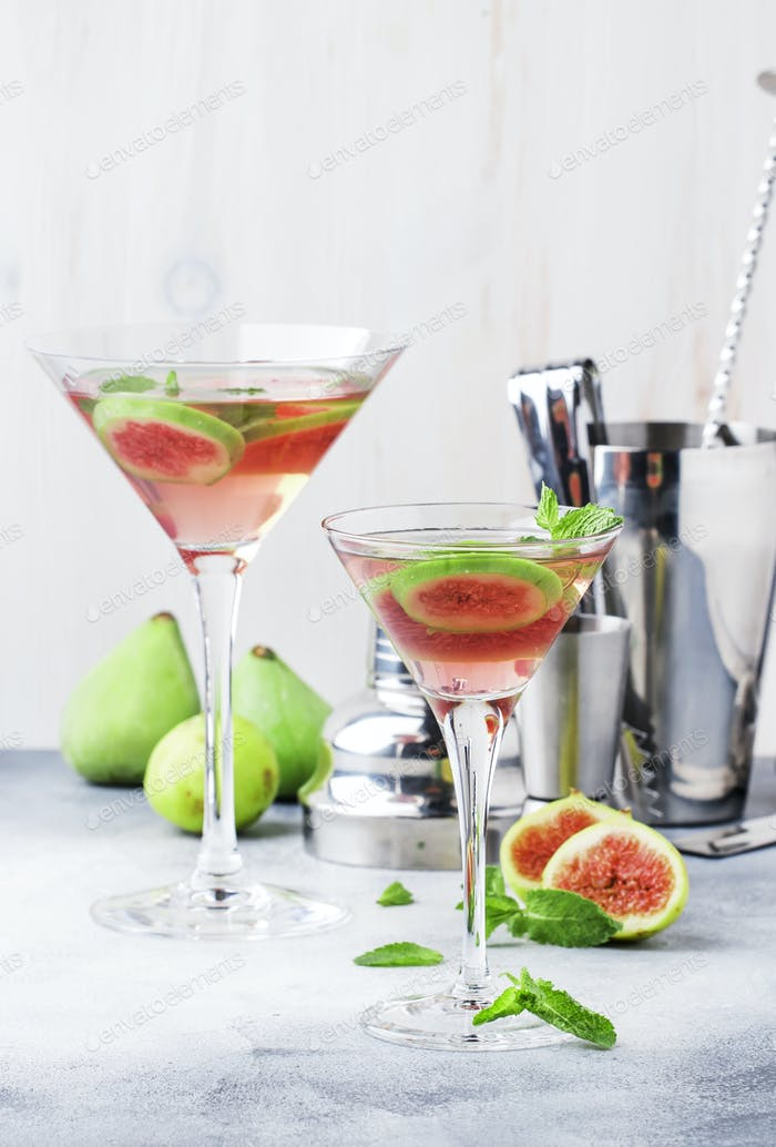 Pink fig martini