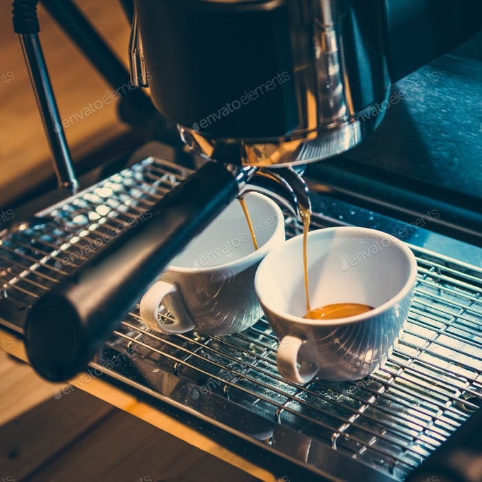 Italian espresso coffee machine
