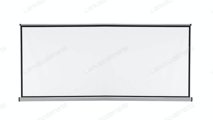 White blackboard isolated on white background