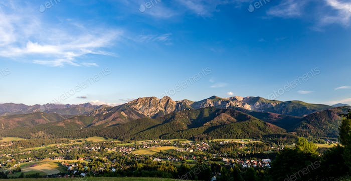 Inspiring Mountains Landscape Panorama, beautiful summer day in