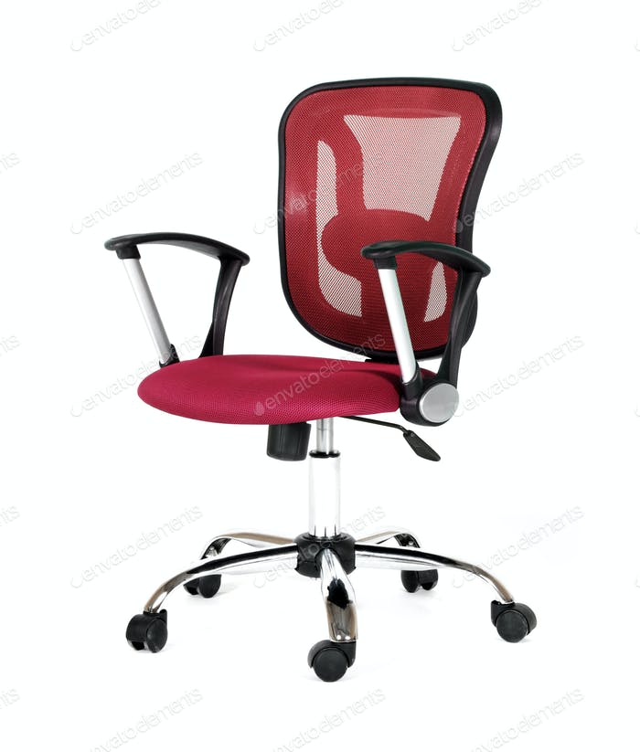 Red office a chair