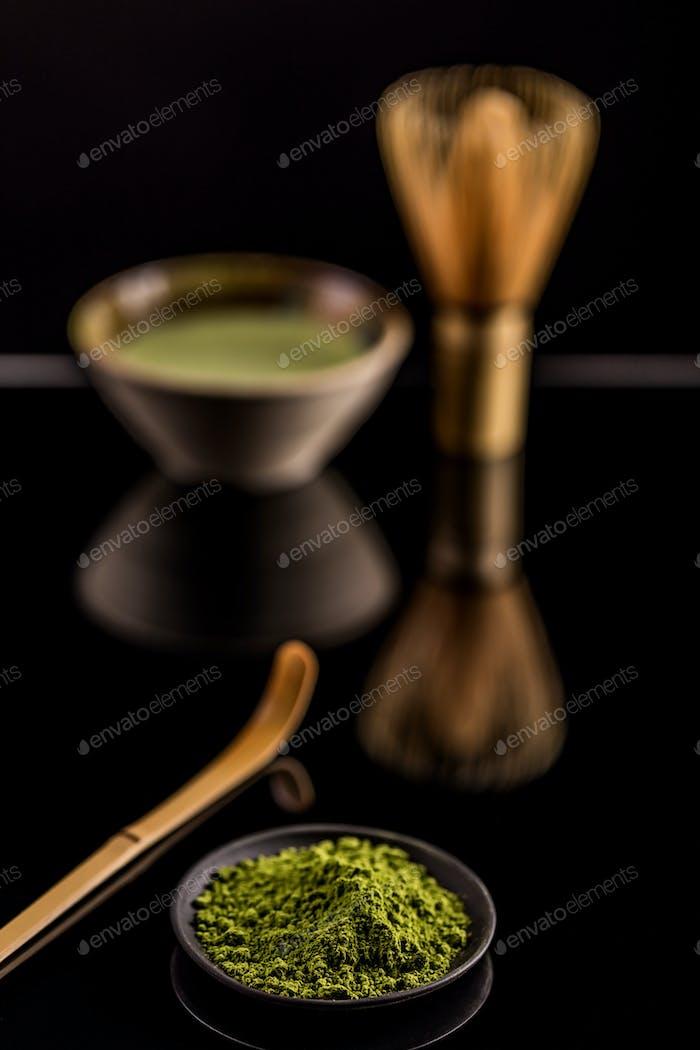 Matcha, powder green tea