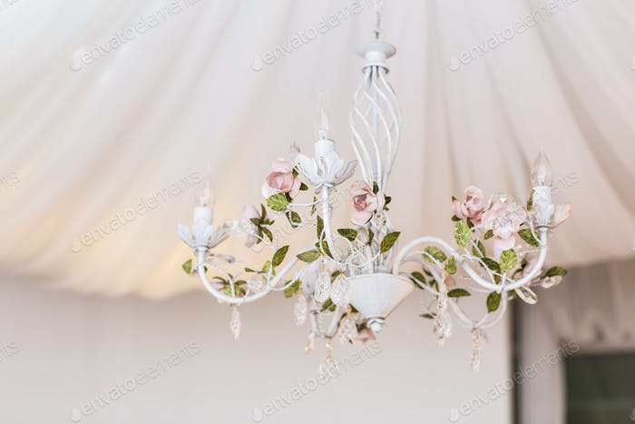 chandelier in classic room