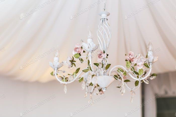 chandelier in classic room