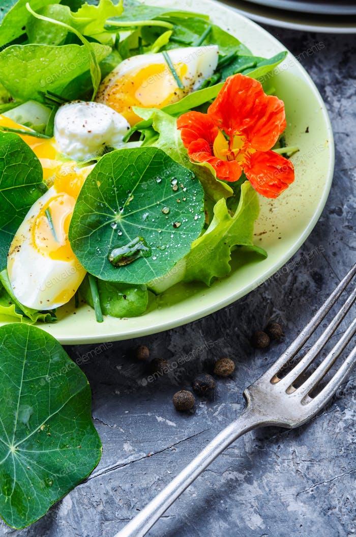 Summer nasturtium salad
