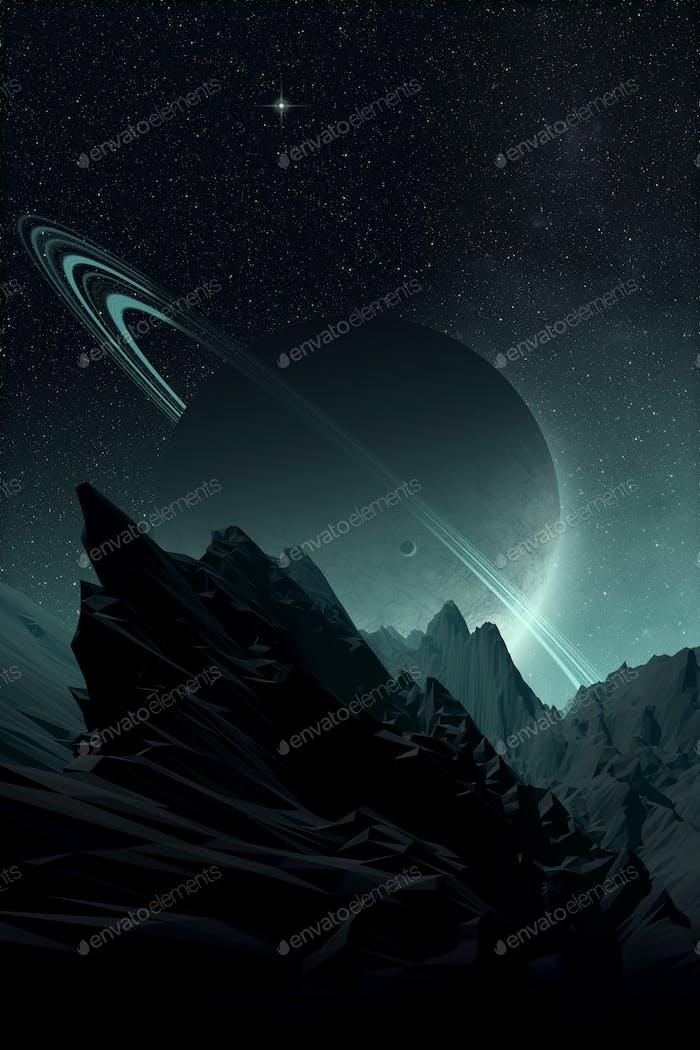 Alien planet landscape