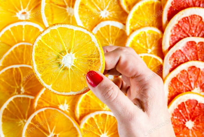 Pattern Natural Oranges.Citrus. Antiviral food. Immunity restoration.