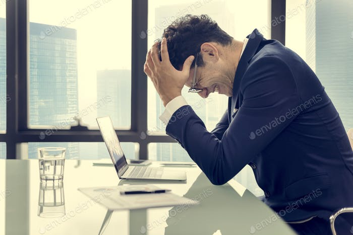 Stress Serious Planning Business Strategy Working Concept