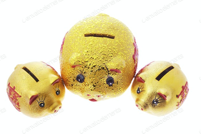 Chinese Golden Piggy Banks