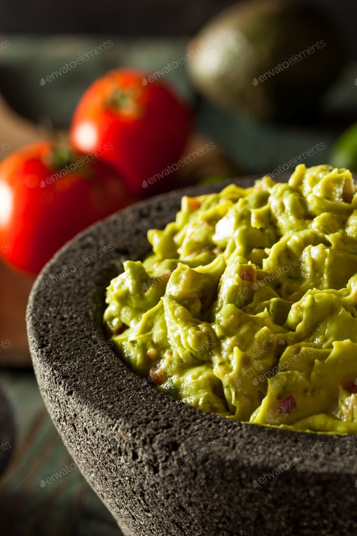 Homemade Fresh Guacamole and Chips