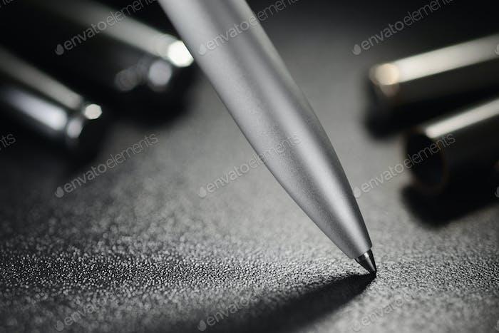 Steel ballpoint pen