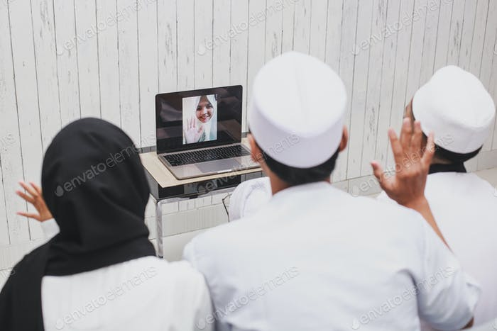 Family Video Conference at Eid Mubarak