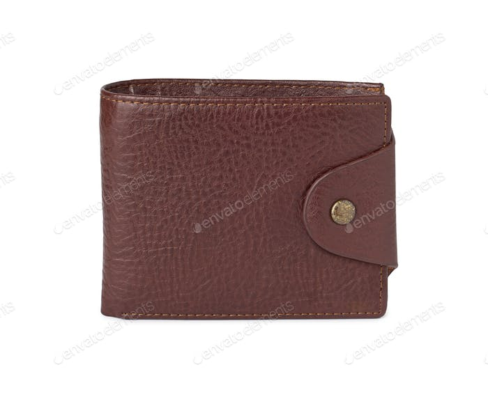 leather wallet against white background