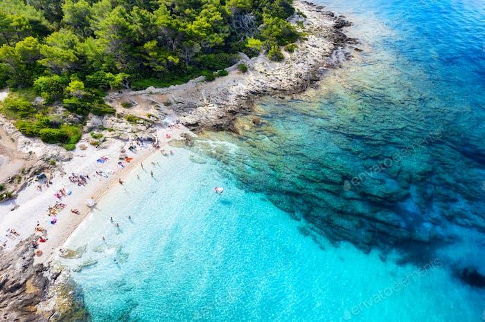 Aerial seascape in the Croatia.