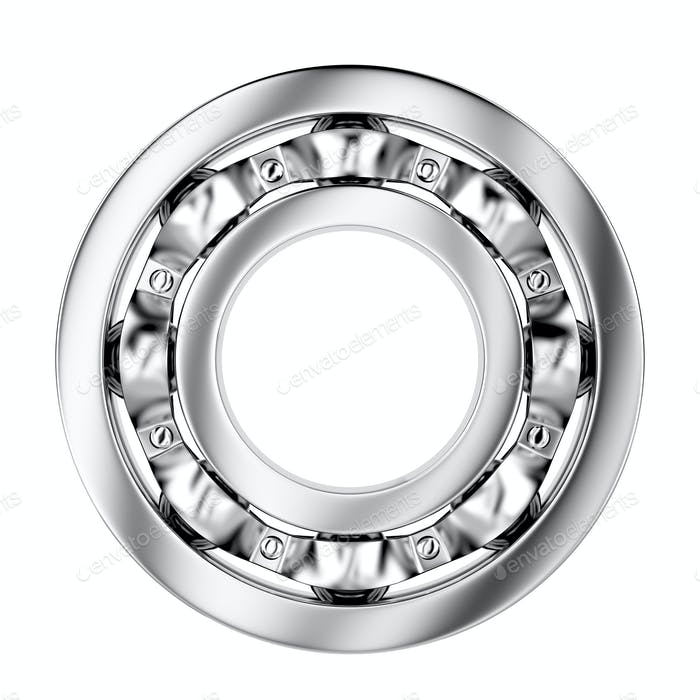 Side view of ball bearing