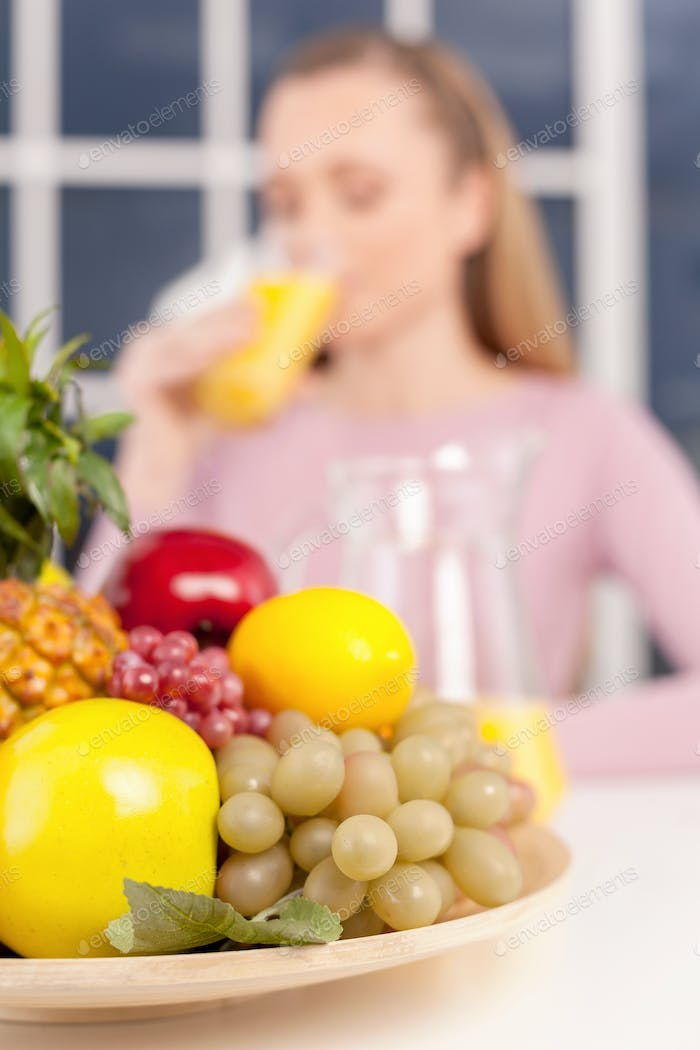 Healthy food and drink.