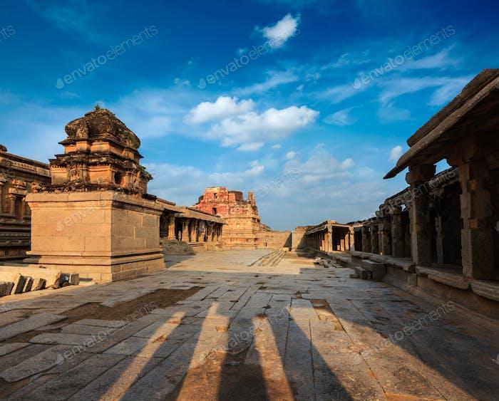 Krishna temple on sunset