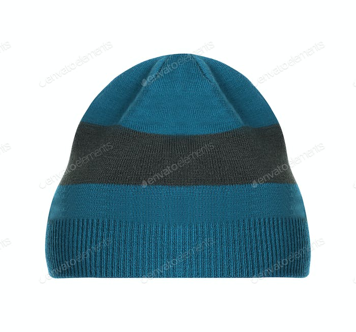 Knitted hat isolated on white