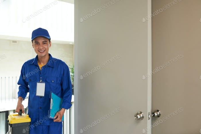 Cheerful handyman
