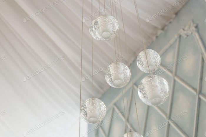 three glass balls. interior decor