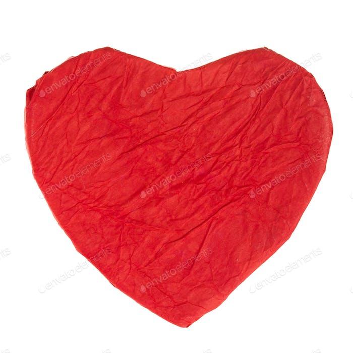 Rotes Papierherz