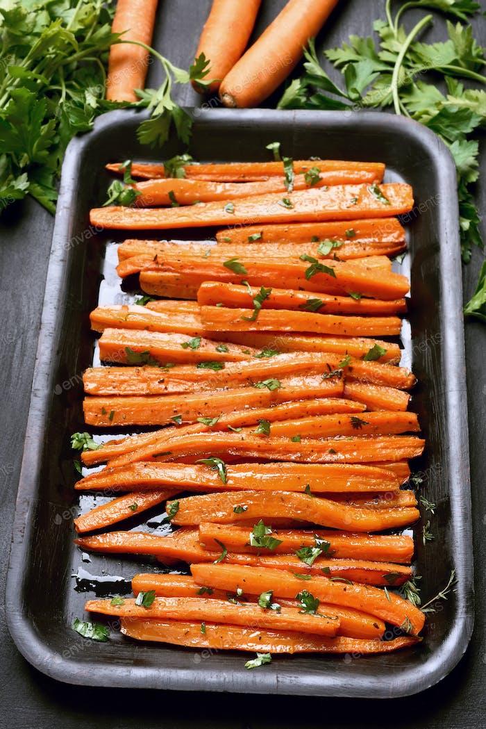 Gekochte Karotten