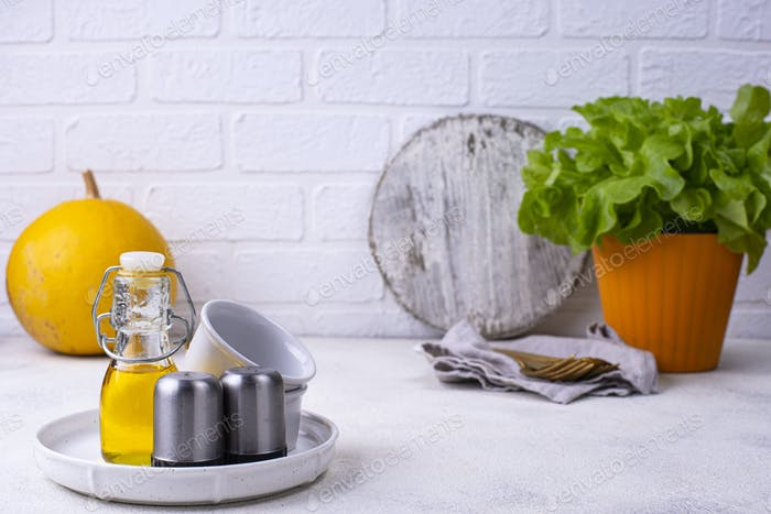 Idea de organización del espacio en la cocina