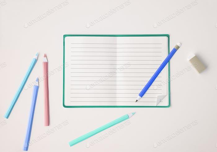 Leere Mockup Leere Seite Tagebuch Copy Space Konzept