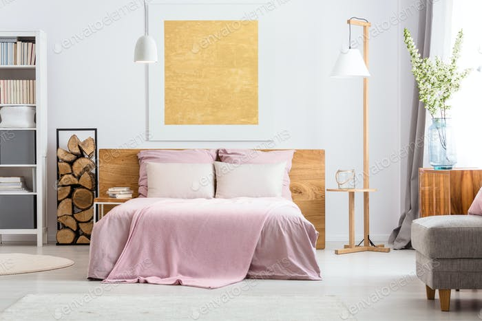 Natural decor of bedroom