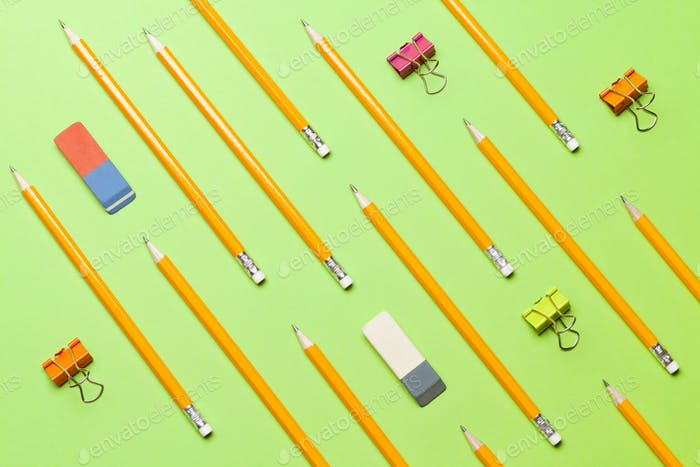 Pencils. Office supplies or school items