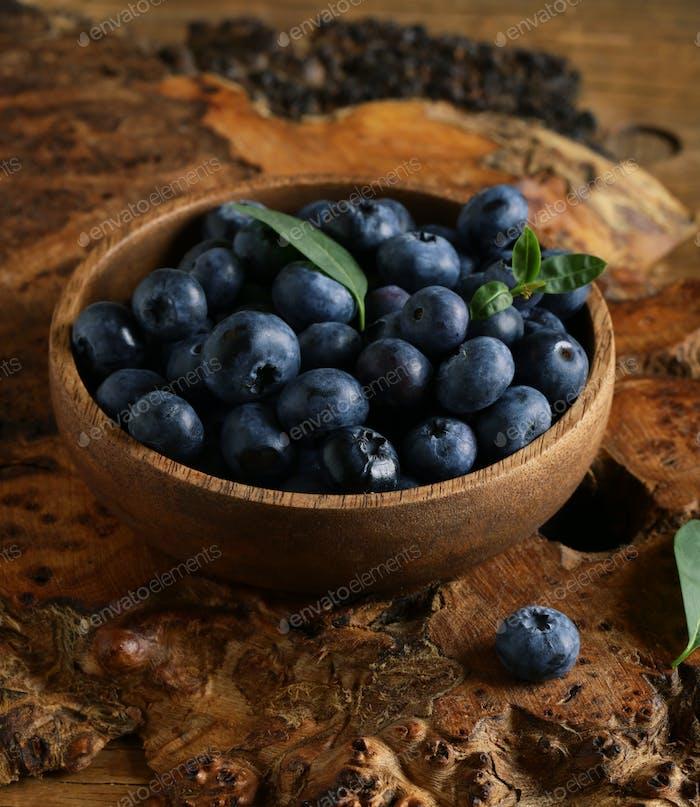 Ripe Organic Blueberries