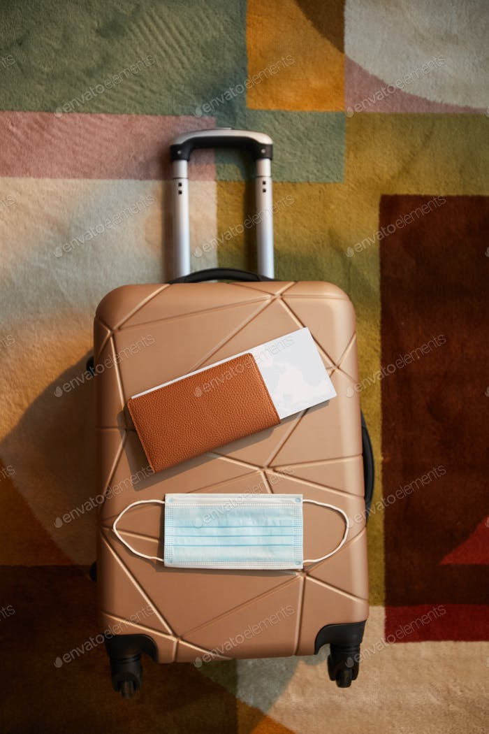 Luggage with passport