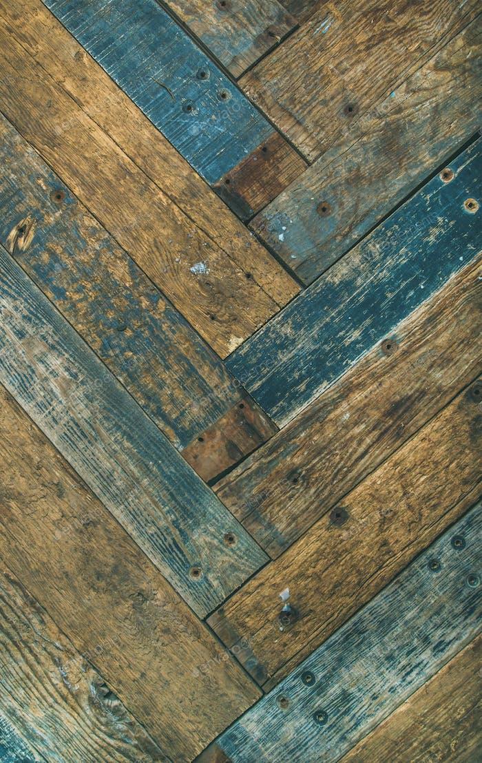 Rustikale Holzscheunentür, Wand oder Tisch Textur und Hintergrund