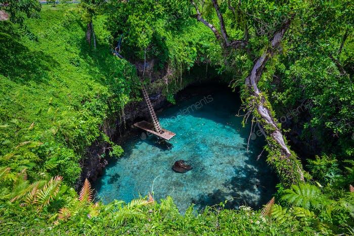 To Sua ocean trench, Upolu, Samoa, South Pacific