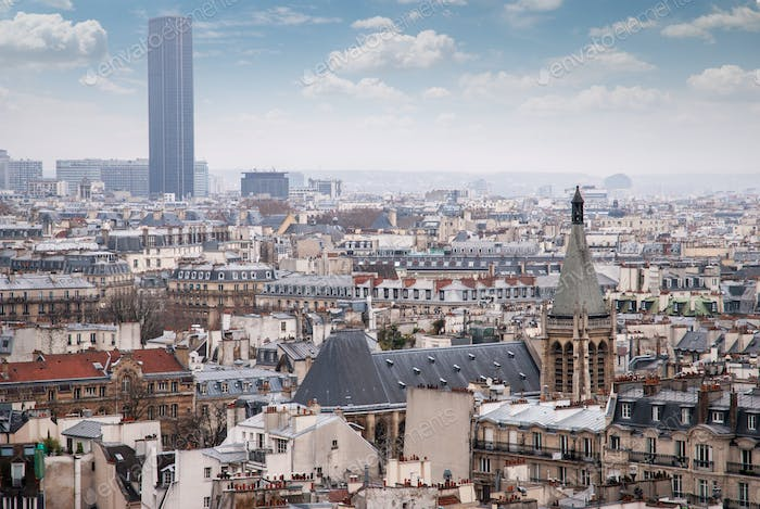 View of the Latin Quarter and Montparnasse