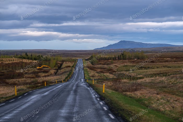 Beautiful road in a national park